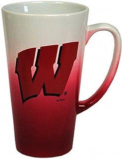 NCAA Wisconsin Badgers Ceramic Ombre Fade Design Mug, Team Color