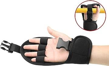 Biange Finger Splint Brace Ability, Rehabilitation Finger Gloves with stroke Hand Splint, Use for Brace Elderly Fist Stroke Hemiplegia Hand Training, Single Hand Grip Exercise (Black)