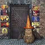 CHALA Banner per Portico di Halloween,per Porta in Cartone Set Dolcetto o Scherzetto Articoli per Feste per Giardino di Casa Cortile Decorazioni di Halloween per Interni All'aperto