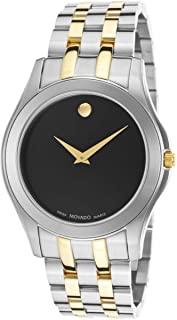 Movado Corporate Exclusive Men's Black Dial Stainless Steel Band Watch - MOV-0605975