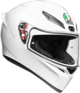 AGV Unisex-Adult Full Face K-1 Motorcycle Helmet (White, Large)