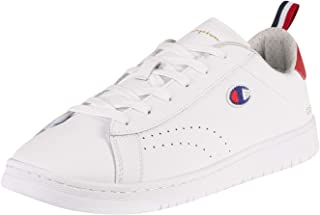 Champion Men's Court Club Patch Leather Trainers, White