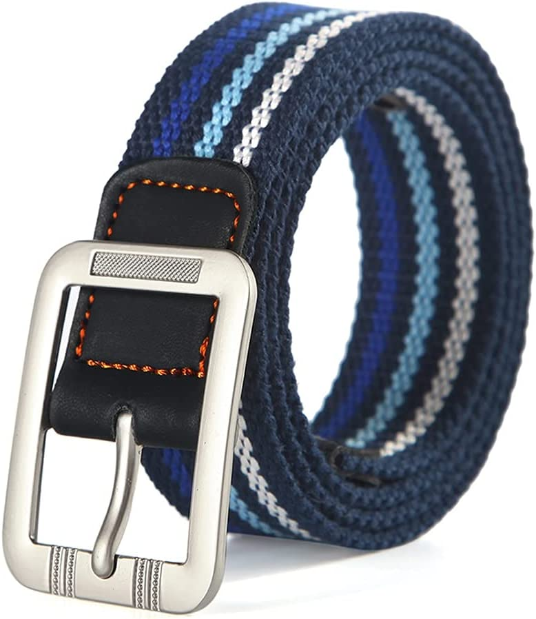 ZLDGYG ZMMDD Boys and Girls Narrow Version Wide Popular Simple Leisure with Fashionable and Comfortable Young Students Canvas Belt (Color : C)