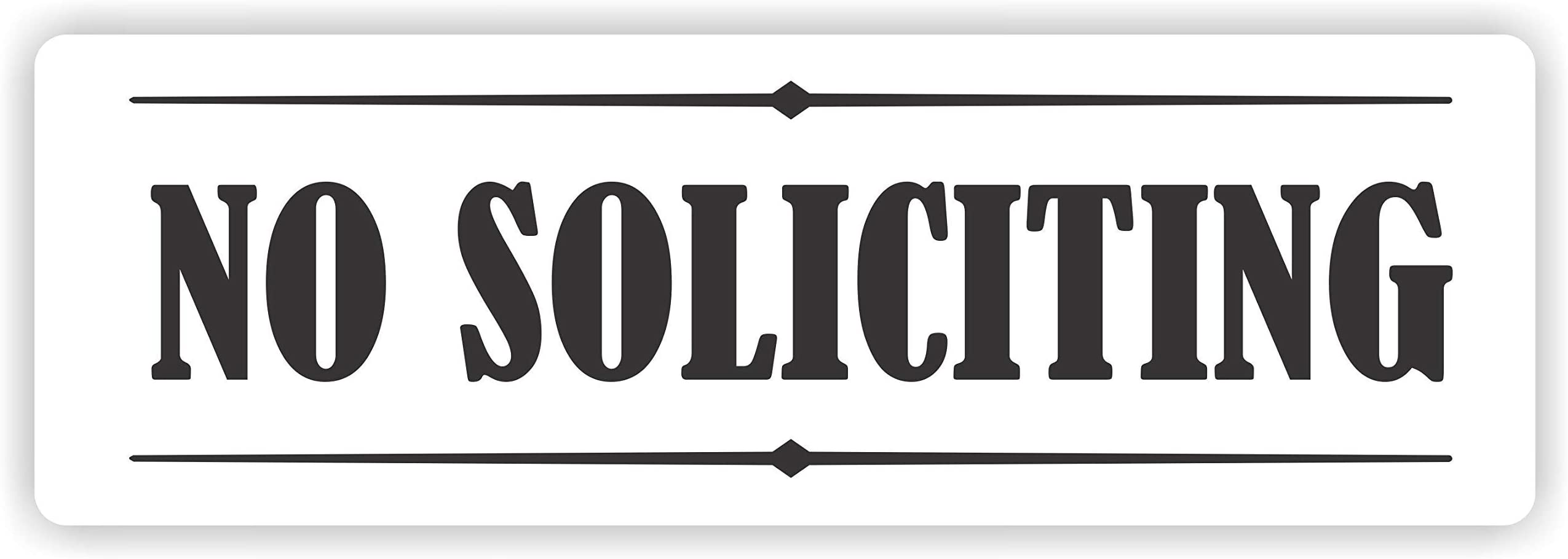 2 x 8 Inches Black and Gold 1-Pack Self-Stick Sign,NO Soliciting Sign 9369 Headline Sign