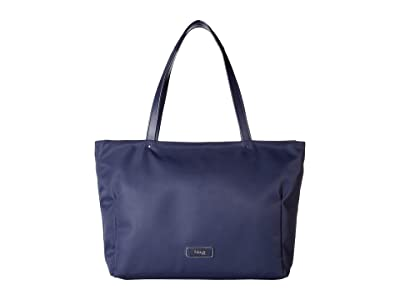Lipault Paris Business Avenue Laptop Tote Bag (Night Blue) Tote Handbags