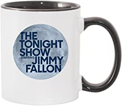 The Tonight Show Starring Jimmy Fallon White and Black Mug - 11 and 15 oz. - Official Coffee Mug