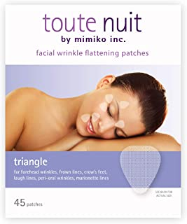 Toute Nuit Facial Wrinkle Flattening Patches, Triangle - Forehead, Around Eyes and Lips Anti-Wrinkle Patches, Face Tape - 45 Patches