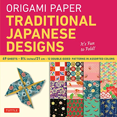 Origami Paper: Traditional Japanese Designs Large (Origami Paper Packs)