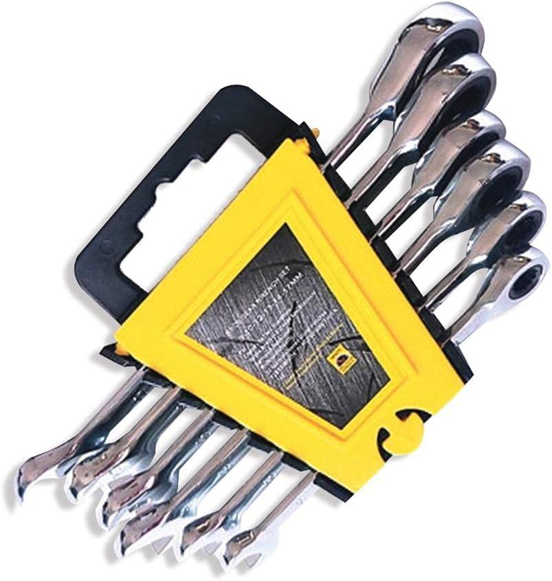 6PCS Many popular brands Ratcheting Wrench Set CR-V 8 10 13 12 17mm W 14 Adjustable Miami Mall