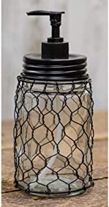 CWI Gifts Chicken Wire Soap Dispenser - Mason Jar - Country Style