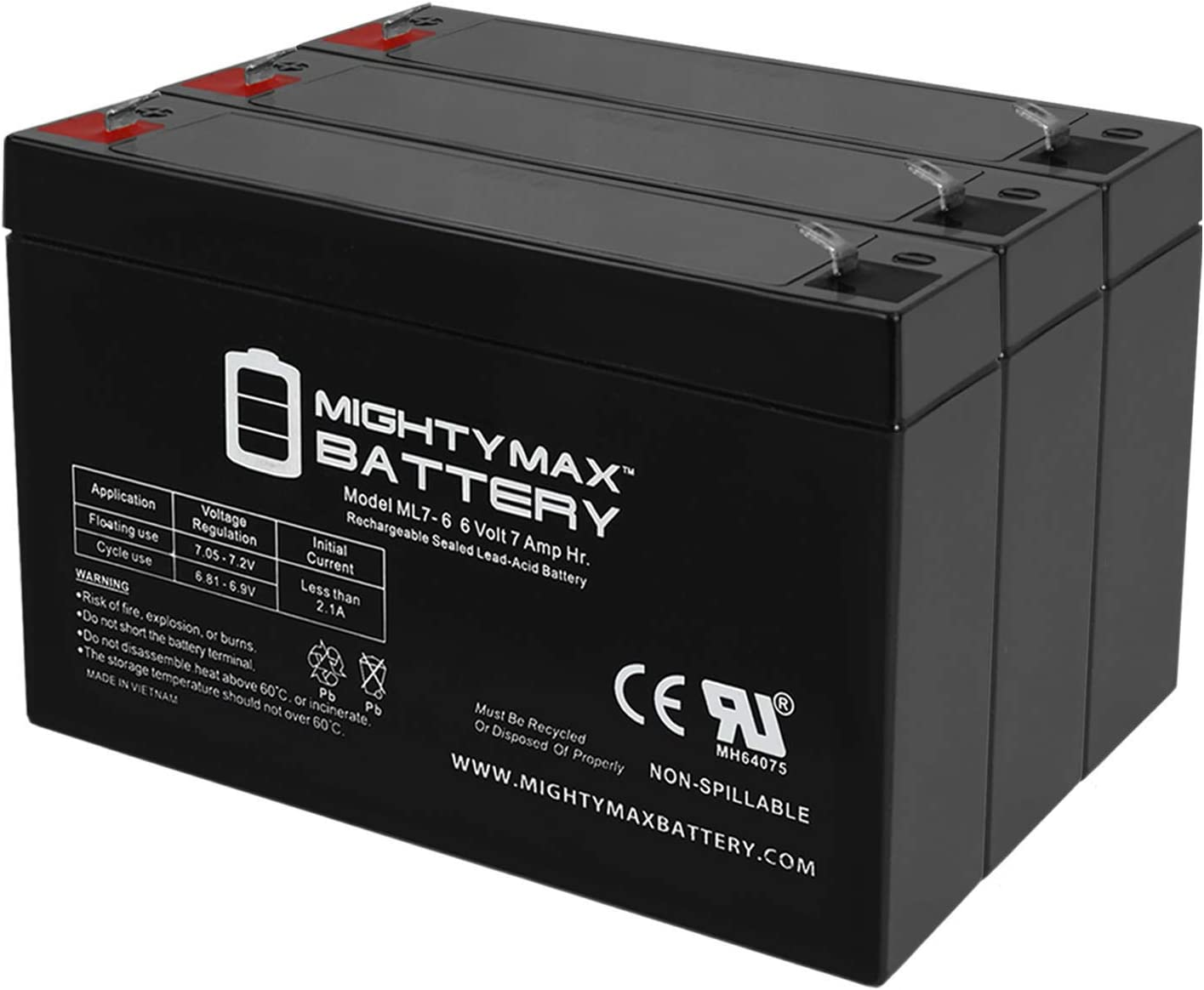 Max 64% OFF Mighty Battery 6V Colorado Springs Mall 7Ah SLA for N National Replacement