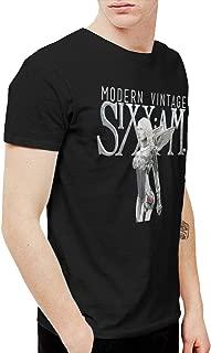 Geneva F Sixx Am Modern Vintage Men's Short Sleeve T Shirt Black