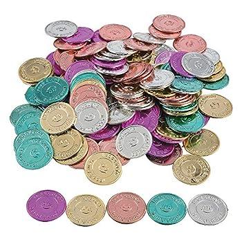 Fun Express  I Was Caught Being Good!  Plastic Coins- Bulk  144 Piece  -Classroom Incentives-Teacher Supplies
