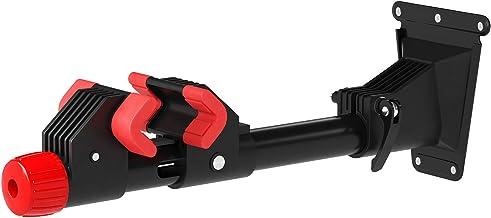 SONGMICS Soporte de Reparación de Bicicletas Montado en la Pared, Soporte de almacenamiento de bicicletas de alta resistencia, Rotación de 360 Grados, Soporte Extraíble, 2 Ménsula, Negro SBR08B