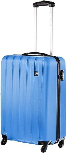 Zurich 20 Inch Cabin Hard Sided Polycarbonate Luggage Blue 55Cm Trolley Bag