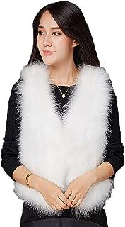 DTDYG18 Women Real Ostrich Feather Exquisite Vest/Coat Sleeveless FluffyL'50cm
