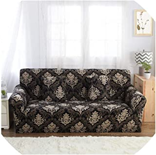 Sofa Coverblack White Grey 1/2/3/4 Seater Sofa Cover Tight Wrap All-Inclusive Sectional Elastic Seat Sofa Covers Couch Covering Slipcovers,5828,Ab 230-300Cm