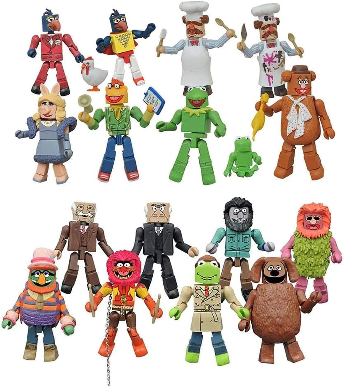 marcas de moda Juguetenk Juguetenk Juguetenk Muppets Minimates Series 2, Set of 2 Cases  Felices compras