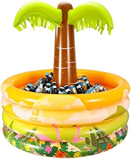 LX inflatable toys Verano Cubo De Hielo De Coco Juguetes Inflables, Cubeta De Bebidas Fila Flotante Cama Flotante Bandeja De Bebidas Cubeta De Almacenamiento, Canal De Natación Accesorios - 90 * 92cm