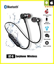 【2020 Upgraded Version】Priish® v.1Q.2020 Wireless Bluetooth Earphone Earbud Portable Headphone Handsfree Sports Running Sweatproof Compatible IOS Android Smartphone Active Noise Cancellation & Charging Cable (2Yr Warranty)