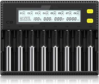 Miboxer C8急速電池充電器 リチウムイオン/ニッケル水素電池/ニカド電池対応 LCD付き 電池容量測定 バッテリー活性化機能 Ni-MH Ni-Cd IMR 18650 26650 26500 22650 18490 17670 17500 17350 16340 14500 10440 SCサイズ