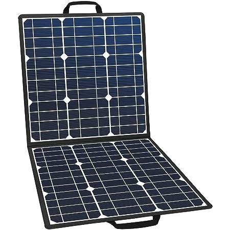 FlashFish ソーラーチャージャー ソーラーパネル充電器 50W 高変換効率22% 太陽光発電 単結晶 折りたたみ DC18V USB5V スマホ ノートパソコン ポータブル電源充電 アウトドアー 停電 防災に大活躍