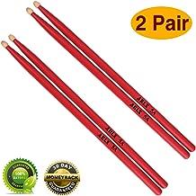 Drum sticks 5a Wood Tip drumsticks Classic Red drum stick (2 pair Red -5A drumstick)