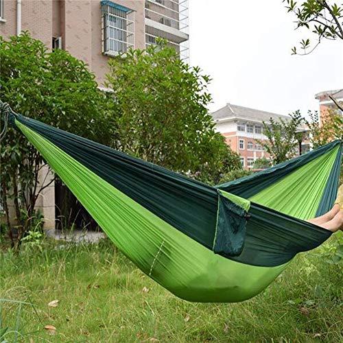 CYAYQ Camping Hammock Single & Double,Portable Parachute Hammock for Outdoor Hiking Travel Backpacking,Nylon Fabric Double Hammock