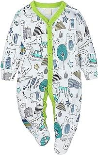 Aiweijia Newborn Baby Boy Girl Long Sleeve Autumn Winter Pattern Warm Rompers Jumpsuit Bodysuit