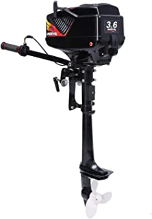 LEADALLWAY Outboard Motor 2 Stroke 3.6 HP Inflatable Fishing Boat Engine Water Cooled