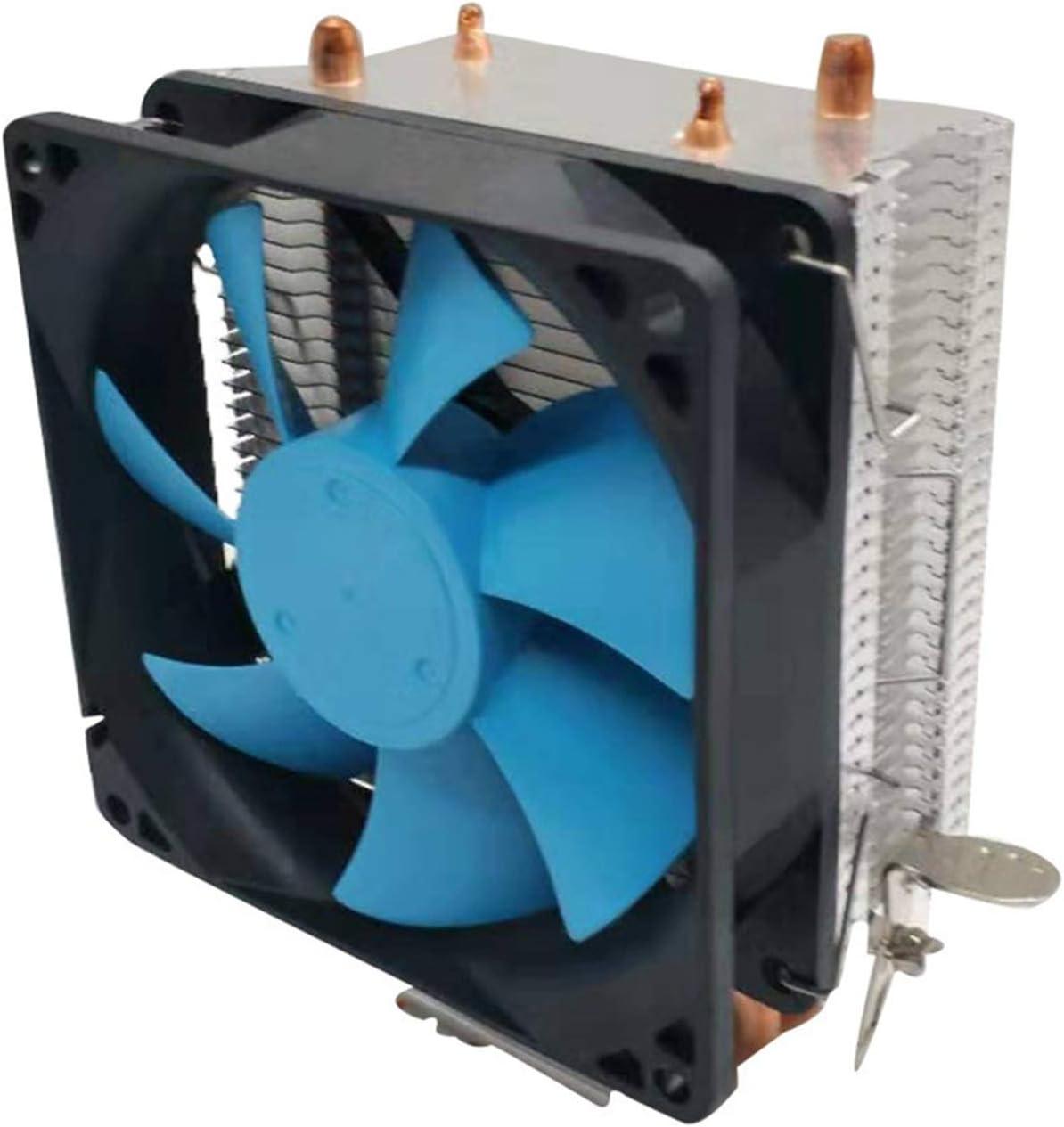 Tranquilo Tubo DE Cobre COMPUTADOR Multi-Plataforma CPU Ventilador De Ventilador Generación Silencioso Universal Tubería De Calor Radiador Fácil de Transportar e Instalar (Color : Ice Peak x90)