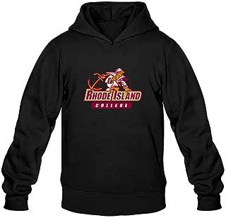 XIULUAN Men's Rhode Island College Logo Hoodied Sweatshirt