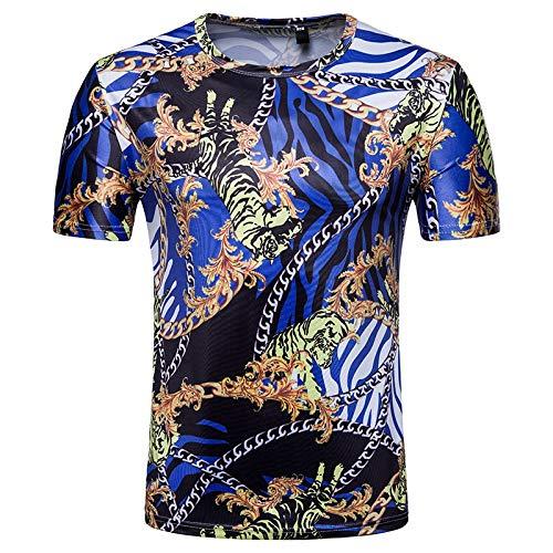 Korte mouw heren T-ShirtMen's korte mouw T-Shirt ademende sneldrogende ketting Print T-Shirt zomer korte mouw