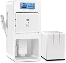 Arlo Battery Charger, UKor Fast Dual Batteries Charging Dock Station for Arlo Rechargeable Battery,Arlo Pro/Pro 2(VMA4400), Arlo Go(VMA4410) and Arlo Security Light Camera Batteries.