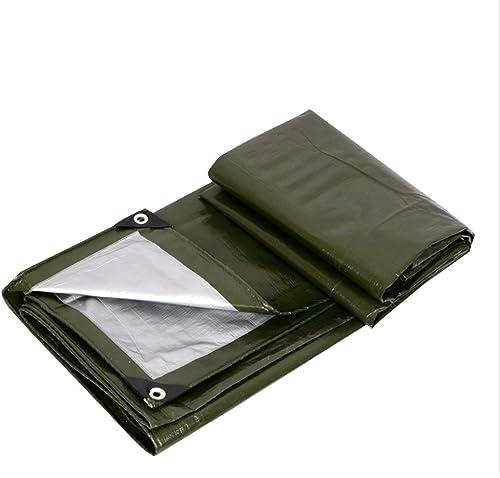LJL Bache imperméable Bache Argent Vert armée, bache de bache d'auvent extérieur, étanche à la poussière, Coupe-Vent, antigel, Facile à Plier Bache Robuste (Couleur   A, Taille   8 x 10m)