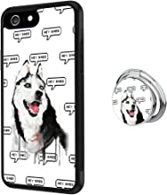 Hynina Phone Case and Phone Ring Buckle Compatible for iPhone 6s Plus 6 Plus - Smiling Husky Meme
