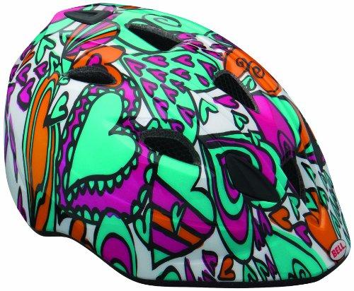BELL Tater - Casco de Ciclismo Multicolor Teal/Magenta Hearts Talla:46-50 cm