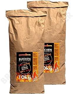 20Kg Barbacoa Carbón Vegetal 100% haya, Premium Calidad, barbacoa Carbón también para Lotus Grill adecuado, 2x 10kg Saco, Gastos de Envío libre