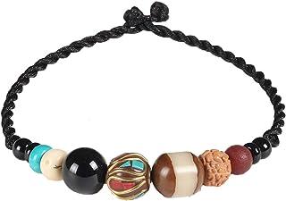 Bracelet pour Homme Bracelet pour Femme JZHJJ Bracelet de Couple Classique Simple et élégant Bracelet de Style Ethnique Bracelet Vintage en Verre tissé à la Main Classique Comprend Bracelet