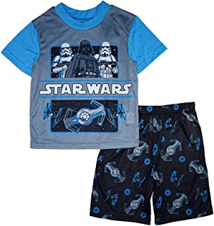 Star Wars Little//Big Boys Charcter Print Two-Piece Pajama Short Set
