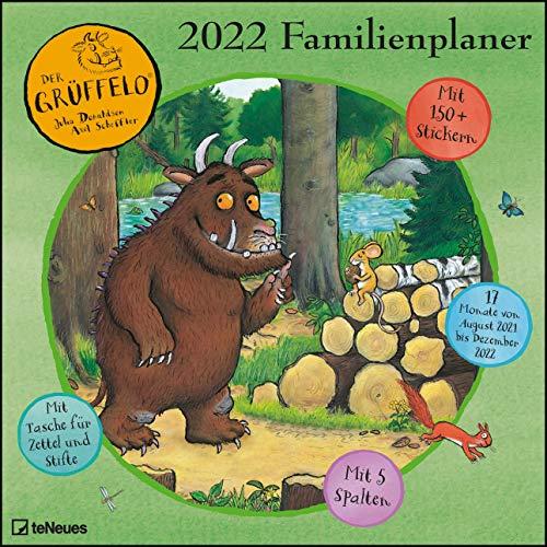 Grüffelo 2022 Familienplaner - Familien-Timer - Termin-Planer - Kinder-Kalender - Familien-Kalender - 30x30: mit fünf Spalten