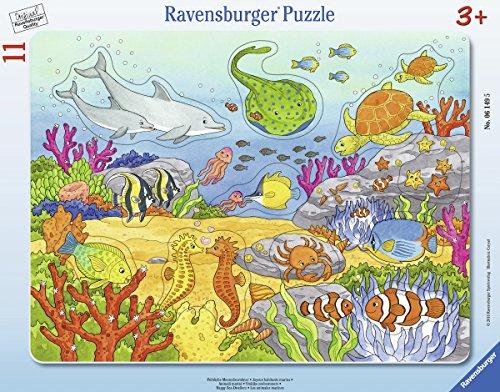 Ravensburger Kinderpuzzle 06149 - Fröhliche Meeresbewohner - Rahmenpuzzle