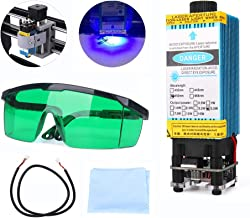 5500mW 450nm Blue Light Laser Module with Protective Glasses for CNC 3D Printer DIY Engraving Machine (5500mW)