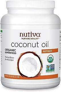 Nutiva Organic Steam-Refined Coconut Oil, 78 Fluid Ounce | USDA Organic, Non-GMO, Fair Trade | Vegan, Keto, Paleo | Neutra...