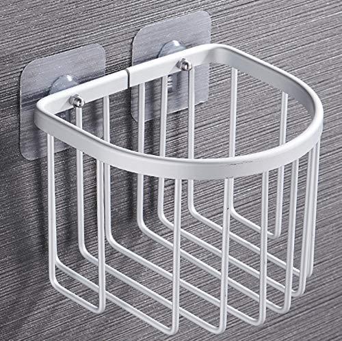 Yuzhijie Estantes de baño, estante de almacenamiento de ducha, estantes de cocina montados en la pared, sin perforación, cesta organizadora de accesorios de baño (color: mate SR semicírculo)