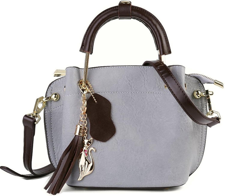 Women's Top Handle Satchel Premium Vegan Leather Handbags Tote Purse Shoulder Bag Crossbody Bag with Removable Strap