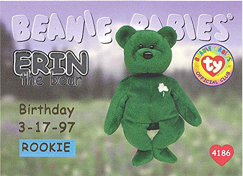 BBOC Cards TY Beanie Babies Series 1 Birthday (Silver) - Erin The Bear (Rookie)