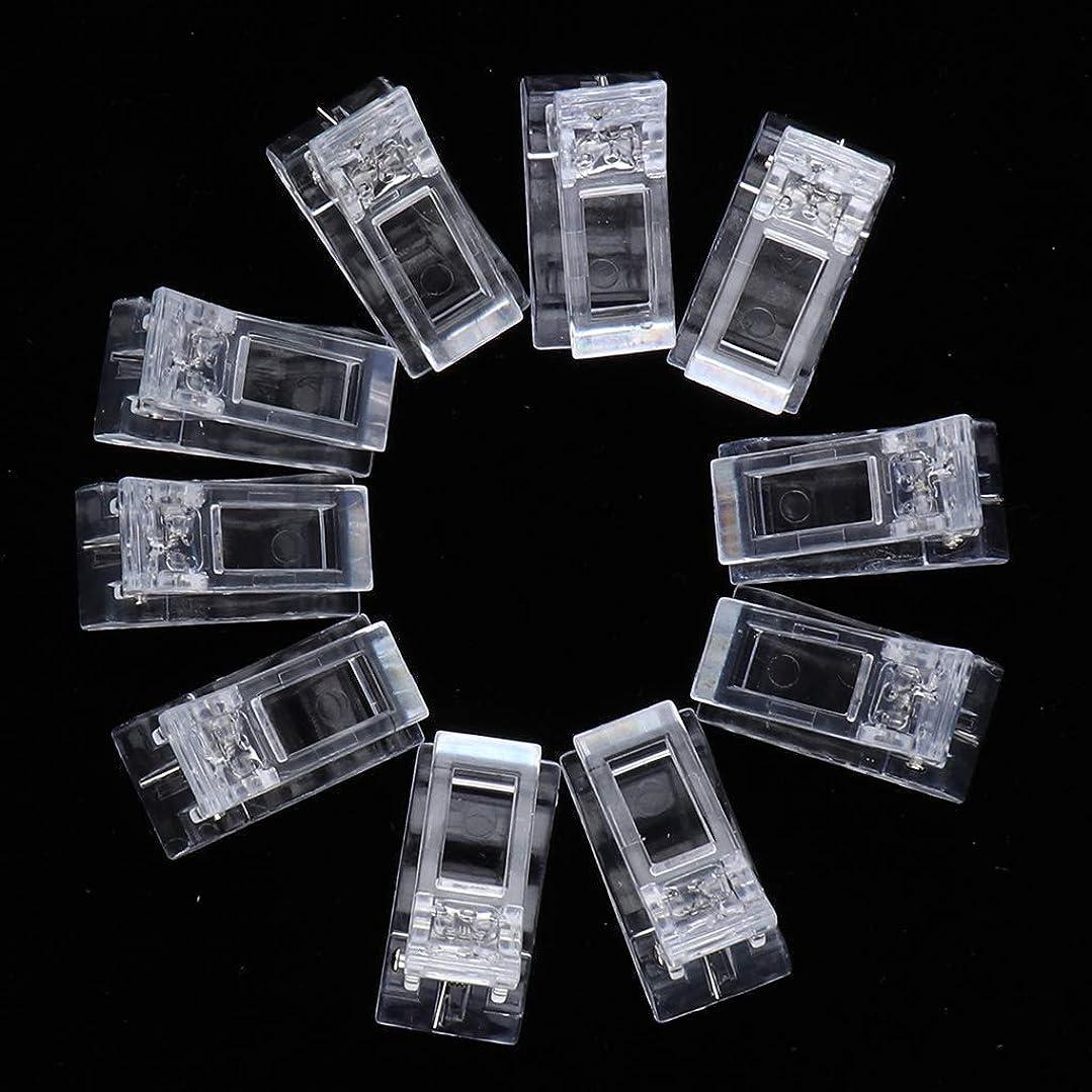 実験室入札完璧な10倍ポリゲルクイックビルディングネイルチップクリップフィンガーUV LEDプラスチックネイルツール
