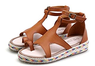 Queena Wheeler Women's Open Toe Platform Wedge Sandal Wedges Casual High Heel Shoes