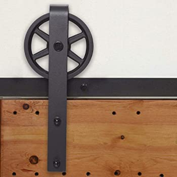 292CM/9.6FT puertas acero puerta corrediza de granero Hardware Herraje para Puerta de Granero Corredera de: Amazon.es: Bricolaje y herramientas